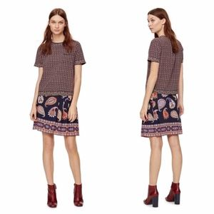 Tory Burch silk paisley mini skirt